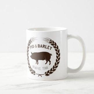 ブタ及びオオムギのマグ コーヒーマグカップ