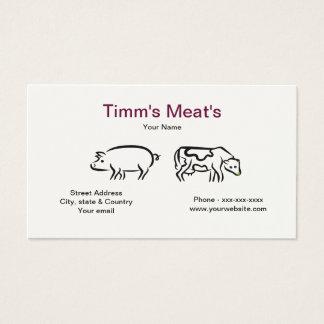 ブタ及び牛肉名刺 名刺