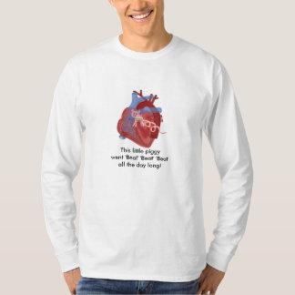 ブタ弁のハートの俳句の芸術の綿ワイシャツのケビンのシアバター Tシャツ