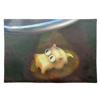 ブタUFOの外転のアメリカ人のMoJoのおもしろいなランチョンマット ランチョンマット