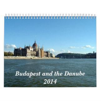 ブダペストおよびドナウ- 2014年 カレンダー