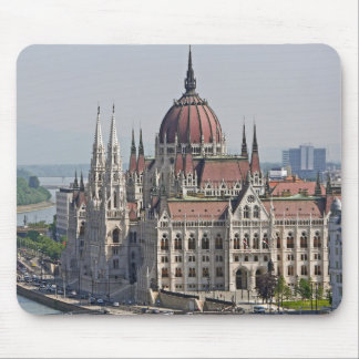 ブダペストの議会の南側、ハンガリー マウスパッド