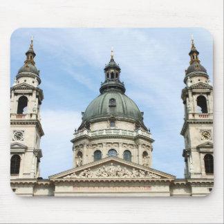 ブダペストのSt Stephensのバシリカ会堂そしてClockTower マウスパッド