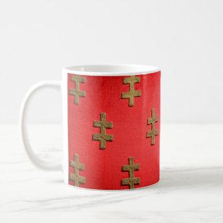ブダペストハンガリーの王位の織物の質のタペストリー コーヒーマグカップ