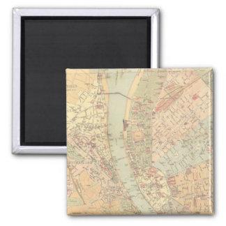 ブダペストハンガリー(1884年)のヴィンテージの地図 マグネット