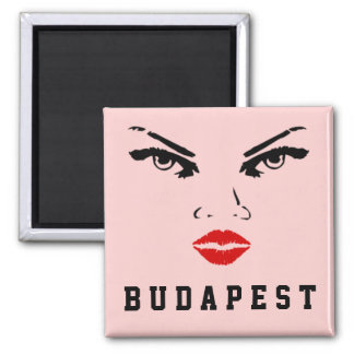 ブダペスト、ハンガリーの女性のガールフレンドの妻の花嫁 マグネット