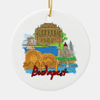 ブダペスト-ハンガリー セラミックオーナメント