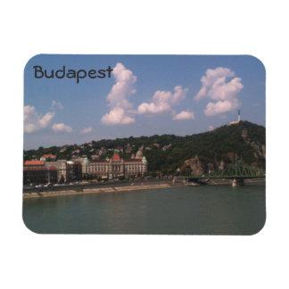 ブダペスト- Gellertの丘および浴室のandLiberty橋 マグネット
