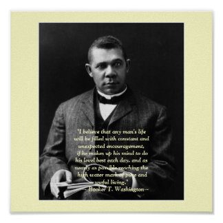 ブッカーT.ワシントン州の勇気付けられる ポスター