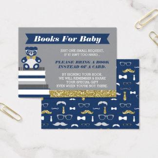 ブックカード、小さい人、テディー・ベアを持って来て下さい 名刺