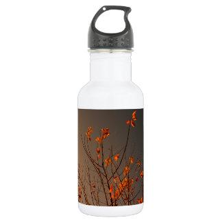 ブッシュのエレガントでモダンなオレンジの葉 ウォーターボトル