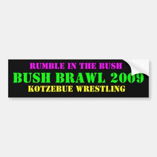 ブッシュの口論2009年、苦闘するKOTZEBUE バンパーステッカー