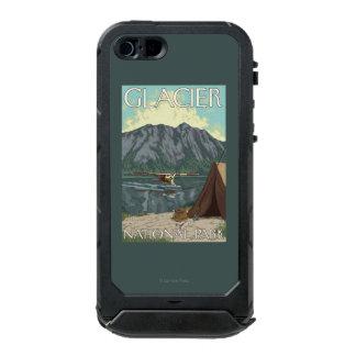 ブッシュの飛行機及び魚釣り-グレーシャー国立公園、MT ウォータープルーフiPhone SE/5/5sケース