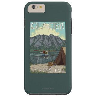 ブッシュの飛行機及び魚釣り-グレーシャー国立公園、MT TOUGH iPhone 6 PLUS ケース