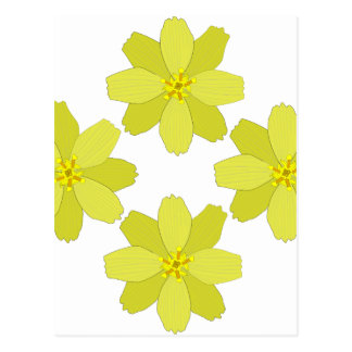 ブッシュの黄色い花 ポストカード