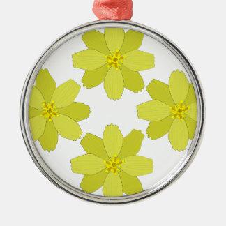 ブッシュの黄色い花 メタルオーナメント