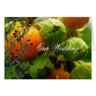 ブッシュは結婚式を発芽させます カード
