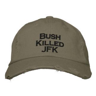 ブッシュはJFKを殺しました 刺繍入りキャップ