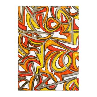 ブッシュ手絵を描かれた抽象美術 アクリルウォールアート
