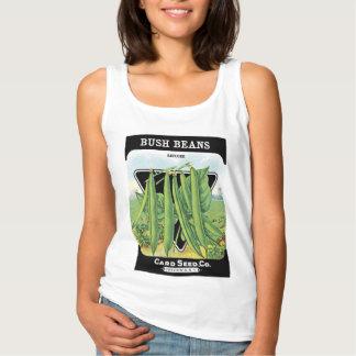 ブッシュ豆の種の包みのラベル タンクトップ
