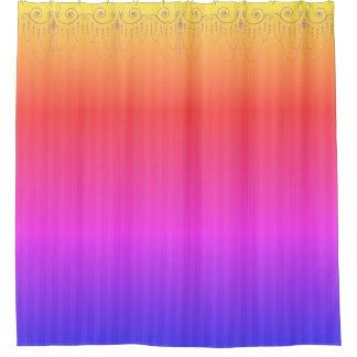 ブティックのストライプな虹/シャンデリア- シャワーカーテン
