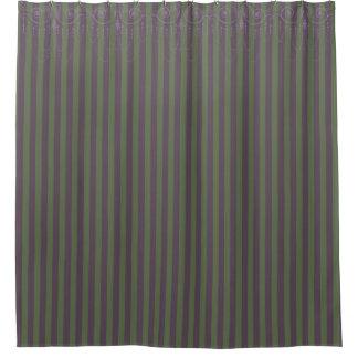 ブティックのストライプのピンクの緑/シャンデリア- シャワーカーテン