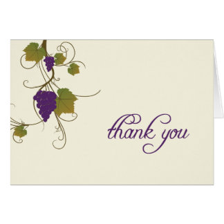 ブドウつる植物はノート感謝していしています カード