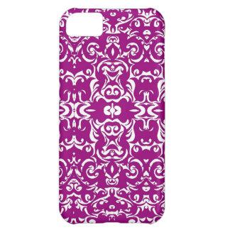 ブドウのダマスク織のグラフィック・デザインの芸術のIphoneの紫色の箱 iPhone5Cケース