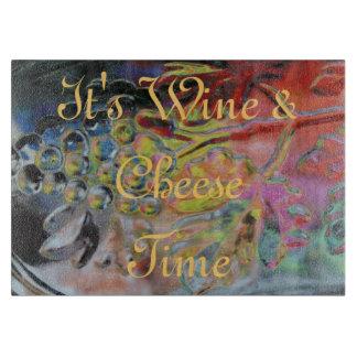 ブドウのデザインの切断板ワインチーズ時間 カッティングボード