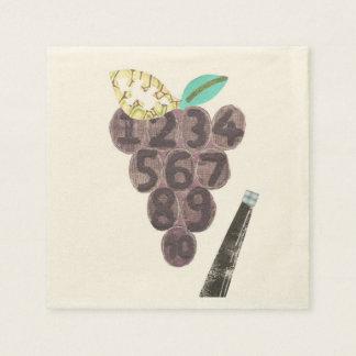 ブドウのプールのベージュ色のナプキン スタンダードカクテルナプキン
