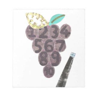 ブドウのプールのメモ帳 ノートパッド