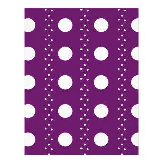 ブドウの水玉模様は縞で飾ります レターヘッド