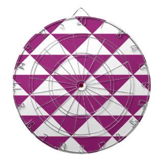 ブドウの紫色および白い三角形 ダーツボード