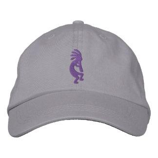 ブドウの紫色のココペリの灰色 刺繍入りキャップ