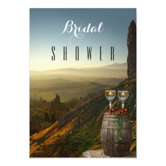 ブドウ園のワインのテーマのブライダルシャワーの招待状 カード