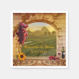 ブドウ園の結婚式または感謝祭の紙ナプキン スタンダードカクテルナプキン