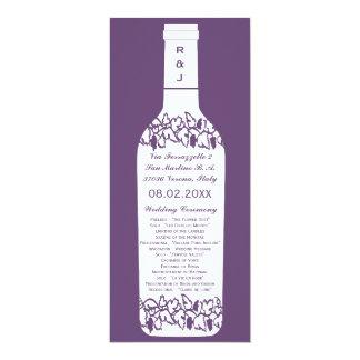 ブドウ園の結婚式プログラム カード