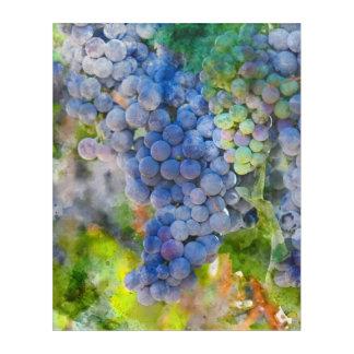 ブドウ園の赤ワインのブドウ アクリルウォールアート