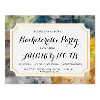 ブドウ園またはワイナリーの結婚式のためのバチェロレッテ ポストカード