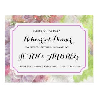 ブドウ園またはワイナリーの結婚式のためのリハーサルの夕食 ポストカード