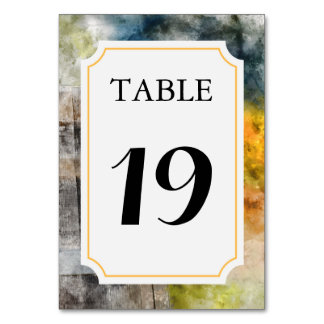 ブドウ園またはワイナリーの結婚式のテーブル数カード カード