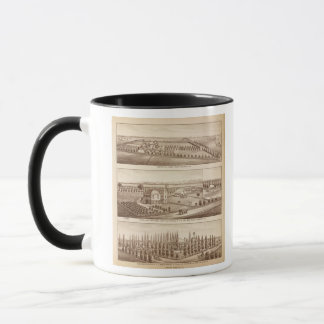 ブドウ園、牧場、Tulare Co、Calif マグカップ