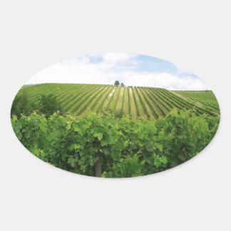 ブドウ園- Vignoble (ボルドー-フランス) 01 楕円形シール