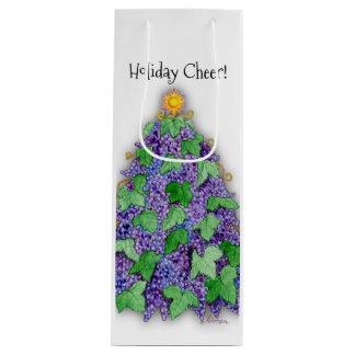 ブドウ酒用ブドウのクリスマスツリー ワインギフトバッグ