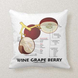 ブドウ酒用ブドウの果実(植物の解剖学) クッション