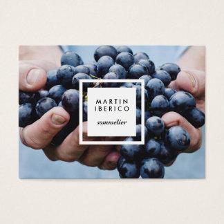 ブドウ酒用ブドウソムリエかブドウ酒醸造業者の名刺 名刺