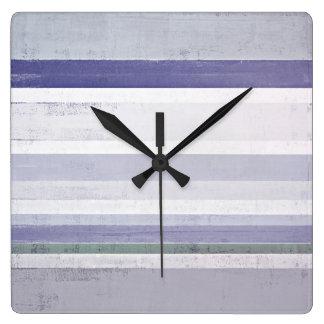 「ブドウ」の紫色および灰色の抽象美術 壁時計