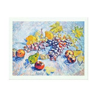 ブドウ、レモン、ナシおよびりんごフィンセント・ファン・ゴッホ キャンバスプリント