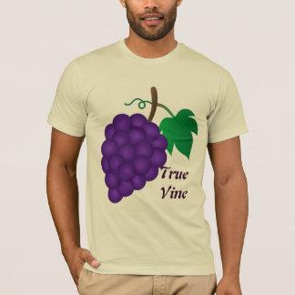 ブドウ、本当のつる植物ベージュ色 Tシャツ