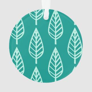 ブナの葉パターン-孔雀および水 オーナメント